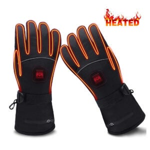 Best Heated Gloves Options: GLOBAL VASION Electric Heated Gloves with Rechargeable Batteries Gloves