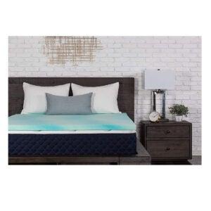 最佳床垫上衣选择:Dreamfoam 2英寸凝胶旋流记忆泡沫圆顶