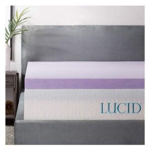 最佳床垫选择:透明3英寸薰衣草注入记忆泡沫