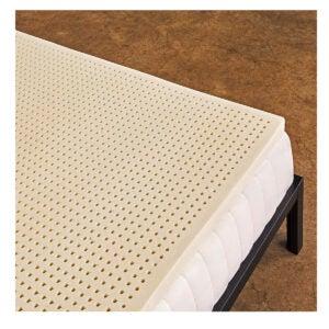 最佳床垫拓盖选项:纯绿色100%天然乳胶床垫