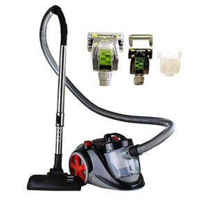 Best Canister Vacuum Options: Ovente Bagless Canister Cyclonic Vacuum Cleaner Machine