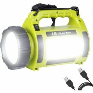 最佳小型手电筒选择:LE可充电LED野营灯手电筒