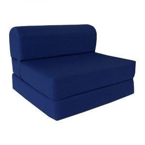 The Best Foldable Mattress Option: D&D Futon Furniture Navy Sleeper Chair Folding Bed