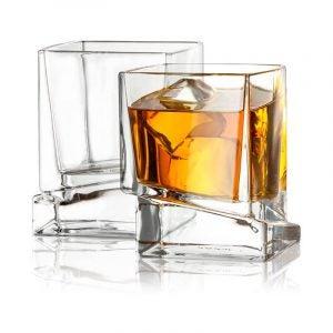最好的威士忌玻璃选项:Joyjolt Carre广场苏格兰威士忌酒最佳威士忌玻璃选项:Joyjolt Carre广场苏格兰眼镜