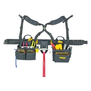 The Best Electrician Tool Belt Option: DEWALT DG5641 Framer's Combo Apron with Suspenders