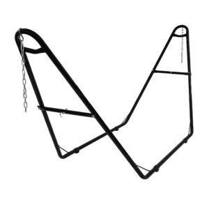 The Best Hammock Stand Option: Sunnydaze 550-Pound Capacity Steel Hammock Stand