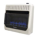 The Best Non-Electric Heater Option: ProCom Ventless Dual Fuel Wall Blue Flame Heater