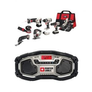 The Best Power Tool Set Option: PORTER-CABLE PCCK6118 20V Combo Kit with Radio