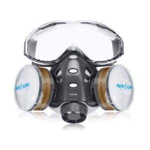 The Best Respirator Option: NASUM Reusable Half Face Cover, 8200