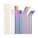The Best Reusable Straw Option: WISKEMA Metal Straws,16 Stainless Steel Straws