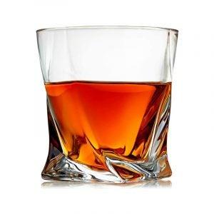 最好的威士忌玻璃选项:Venero Crystal Whiskey眼镜套4