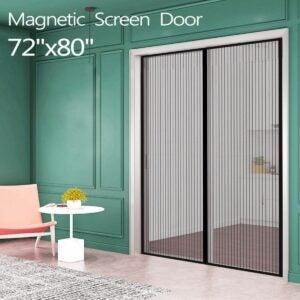 最好的磁屏门选项:法式门的Ikstar磁屏门