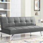 "The Best Futon Option: Serta Futons Twin 66.1"" Tufted Back Convertible Sofa"