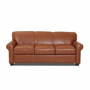 """最好的卧铺沙发选项:詹妮弗正品皮革81""""滚动臂沙发床"""