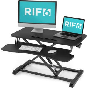 最佳站立式办公桌转换器选择:RIF6可调高度站立式办公桌转换器