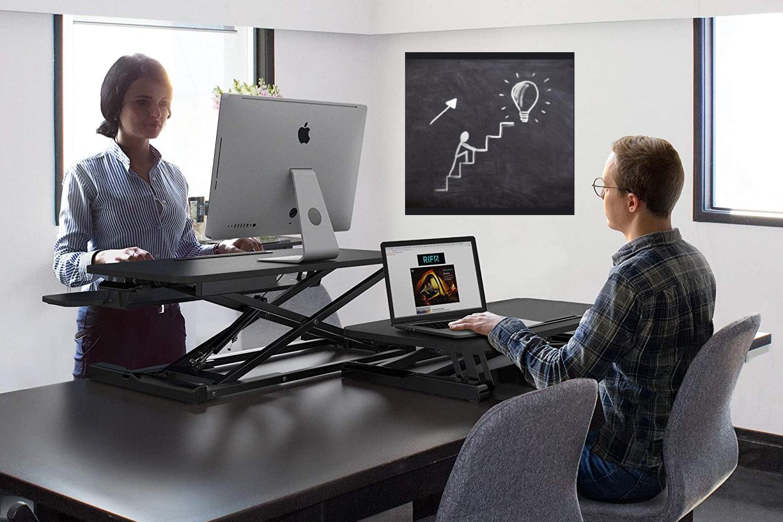 Best Standing Desk Converter Options, Best Sit Stand Desk Converter For Tall Person
