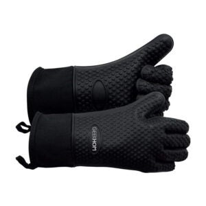 The Best BBQ Gloves Option: GEEKHOM Grilling Gloves, Silicone Oven Mitts