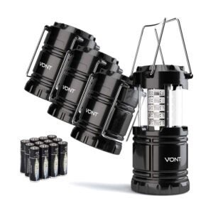 The Best Camping Lantern Option: Vont 4 Pack LED Camping Lantern