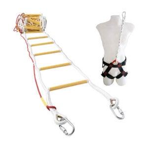 最佳消防逃生梯选择:ISOP消防疏散绳梯带安全带