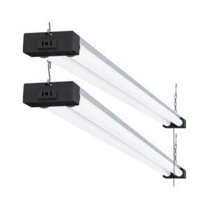 The Best Garage Lighting Option: Sunco Lighting 2 Pack Industrial LED Shop Light