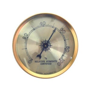 The Best Hygrometer Option: Cigar Oasis Analog Hygrometer by Western Humidor