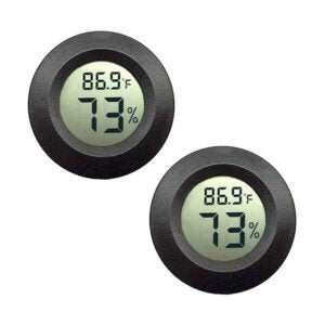 The Best Hygrometer Option: JEDEW 2-Pack Mini Hygrometer
