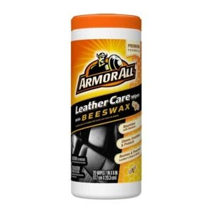 The Best Leather Cleaner Option: Armor All Leather Care with Beeswax Wipes