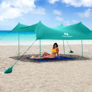 The Best Pop-Up Canopy Option: Red Suricata Family Beach Sunshade, 10 x 9
