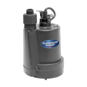 The Best Sump Pump Option: Superior Pump 92250 Submersible Sump Pump 1/4 HP
