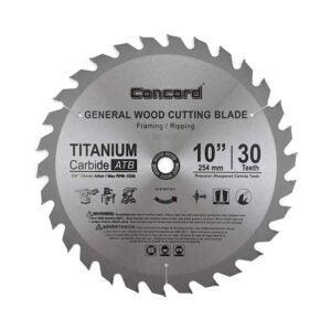 最好的桌子锯片选项:Concord刀片WCB1000T030HP 10英寸30齿