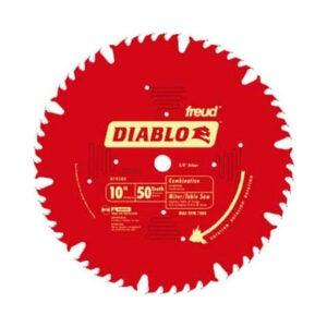 最好的桌子锯片选项:弗洛伊德D1050x暗黑破坏神10 50齿组合锯片