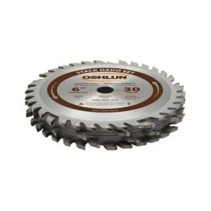 The Best Table Saw Blade Option: Oshlun SDS-0630 6-Inch 30 Tooth Stack Dado Set