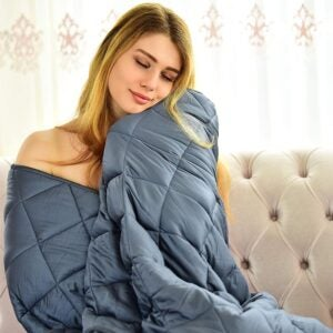 The Best Throw Blanket Option: WONAP Cooling Weighted Blanket 100% Natural Bamboo