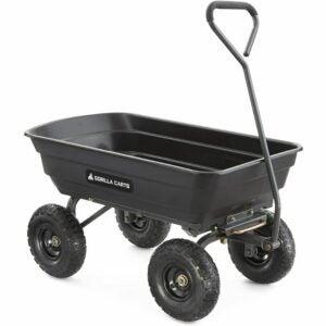 The Best Garden Cart Option: Gorilla Carts GOR4PS Poly Garden Dump Cart