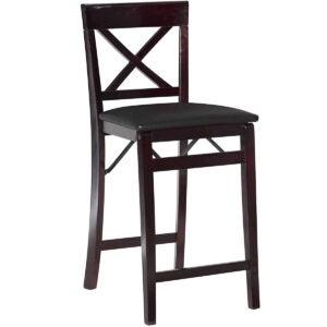 最佳酒吧凳子选择:Linon Triena X折叠式柜台凳子