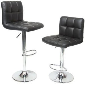 Best Bar Stools Options: Roundhill Furniture Swivel Black