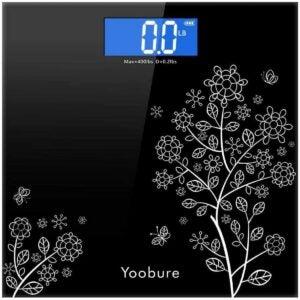 最好的卫生间秤选择:恒温玻璃的yoobure重量秤