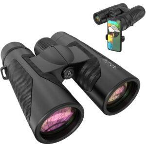 最佳双筒望远镜选择:12x42双筒望远镜为成人与新的智能手机照片适配器
