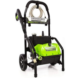 Best Electric Pressure Washer Options: Greenworks PW-1800 1800 PSI 1.1 GPM Electric Pressure Washer