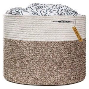 Best Laundry Basket Options: Goodpick Large Cotton Rope Basket