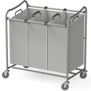 Best Laundry Basket Options: Simple Houseware Heavy-Duty 3-Bag