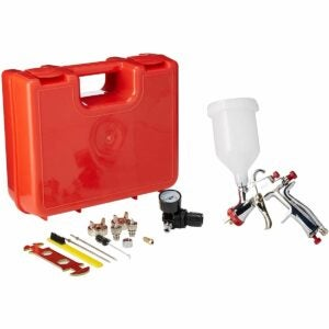 The Best Paint Sprayer For Cabinets Option: SPRAYIT LVLP Gravity Feed Spray Gun Kit
