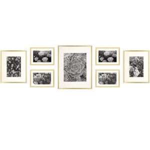 Best Picture Frames Options: Golden State Art, Gold Metal Wall Photo Frame Collection