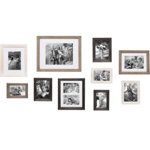 最佳框架选项:Kate和Laurel Bordeaux Gallery Wall Kit