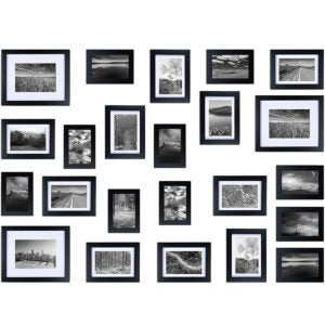 Best Picture Frames Options: Ray & Chow Black Gallery Wall Picture Frames