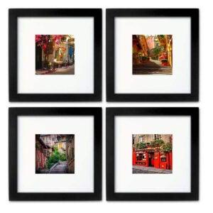 Best Picture Frames Options: WOOD MEETS COLOR 8x8 Picture Frames Set