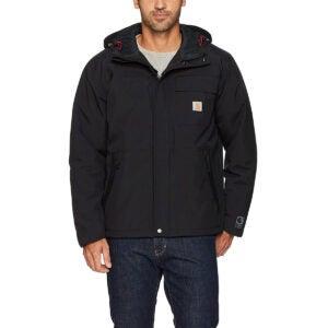 最好的雨夹克选项:Carhartt Men的绝缘海岸线夹克