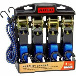 The Best Ratchet Straps Option: AUGO Ratchet Tie Down Straps - 4 Pack