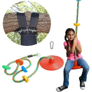 Best Tree Swing Options: Jungle Gym Kingdom Tree Swing Climbing Rope