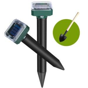 Best Ultrasonic Pest Repeller Options: Mole Repellent, 2 Pack Solar Powered Mole Repellent